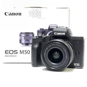Canon EOS M50 + 15-45mm Lens + Bag 99% wty 11/2021