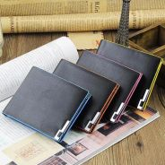 082 Flip-On Edge Business Men Casual Short Wallet