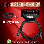Kirlin mp-270 /bk 10 meter microphone cable xlr ma