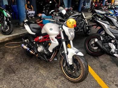 2016 BENELLI TNT300 TNT 300 AKRAPOVIC full loan