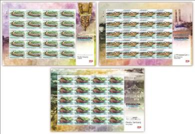 Mint Stamp Sheet River Transportation Sarawak 2016