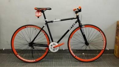 Prego ii bicycle 700c fixie s/brake black