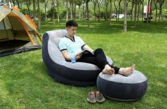 IDFS001 Single Seater Air Sofa cum Foot Rest come