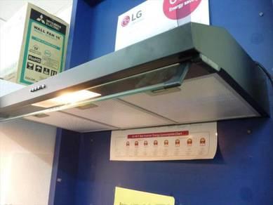 0% GST * New Range Cooker Hood Easy-Filter 90BK