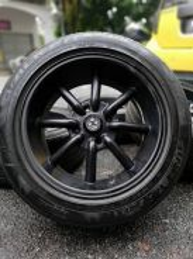 Watanabe 16 inch sports rim perdana tyre 70%