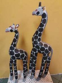 Balinese wood craft giraffe inpair Big=14