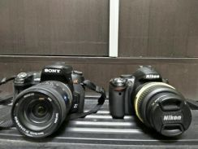 Nikon D3000 & Sony a500