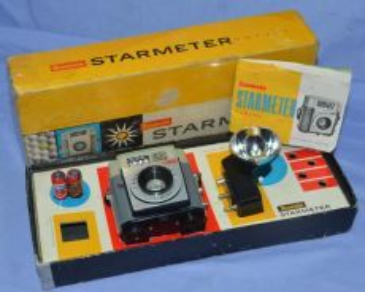 Antique kodak brownie starmeter camera with flash