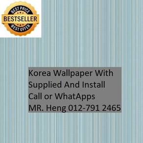 PVC Vinyl Wall paper with Expert Install 87yh