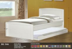 Wooden Children bed + pull out-8346