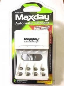 Ori Maxday Battery Charger USB Input AA / AAA A