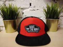 Vans Off The Wall Red Floral Edition Snapback Cap