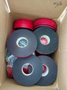 Nylon gloves/double sided tape/blue uniform/solven