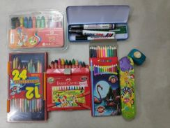 Crayon n colour pencils (used)