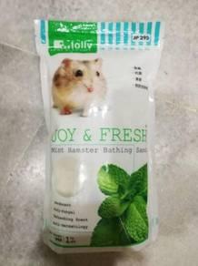 Jolly Hamster Bathing Sand Pasir Mandi 1kg Mint