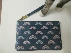 Authentic fossil leather wristlet