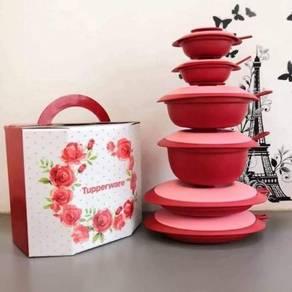 Prelove set tupperware royal red