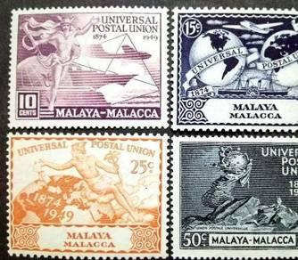 Malaya 1949 Malacca Universal Postal Union MNH