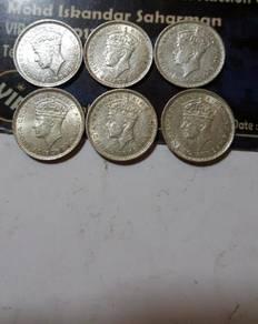 MALAYA OLD COIN 1941 ( 6pcs )