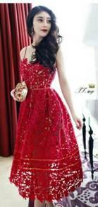 Elegant dress/ midi dress/ dinner dress