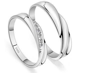 Cincin Tunang / Couple / Kahwin 925 Genuine Silver
