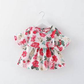Red Floral Baby Dress