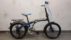 Bicycle marsstar folding 20er 7sp d/brake blue
