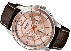 Watch- Casio Men Leather MTP1374L-9A -ORIGINAL