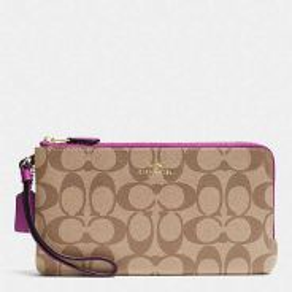 Coach double zip wallet f54057