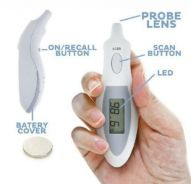 Ear thermometer for travel