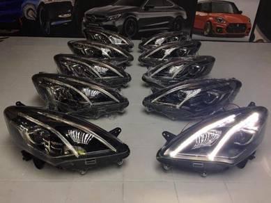 Perodua Alza Head Lamp With Light Bar Merc Design