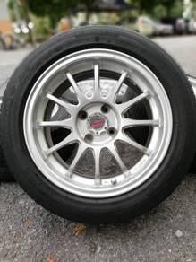 Ssr type f 15 inch sports rim saga flx tyre 70%