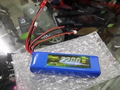 Boli 11.1v 2200mah 8c 3s Rc Remote Lipo Battery