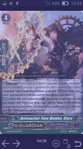 Cardfight Vanguard -Retroactive Time Maiden,Uluru