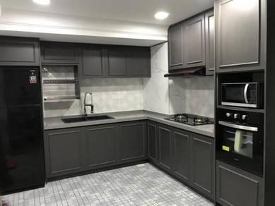 Quartz top with melmaine doors kitchen cabinet6999