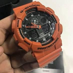 G-Shock GA-100L-4ADR Orange Sports Resin Watch