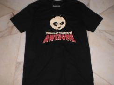 Kung Fu Panda Black T-Shirt M (Kod TS2044)
