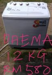 Mesin basuh manual daema 12kg