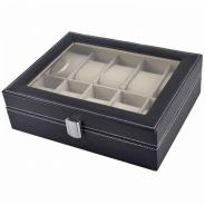 Kotak jam / pu leather watchbox 10 slots 09