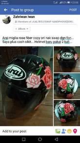 Arai miglia rose fiber copy ori swap fon