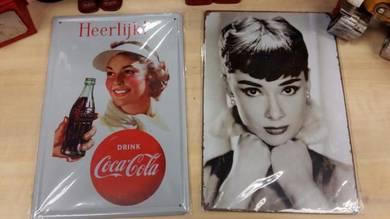 Classic Vintage Tin Toy Poster Audrey Hepburn