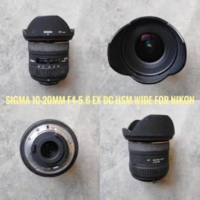 Sigma 10-20mm F4-5.6 EX DC HSM wide for Nikon