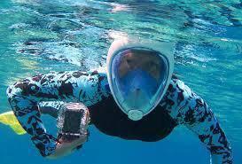 Swimming full face snorkeling