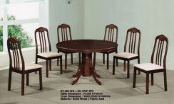 Round Table Dining set with Cushions Seat