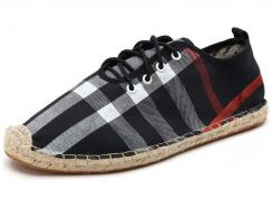 F0264 Retro Men's Black Sneakers Skidproof Shoes