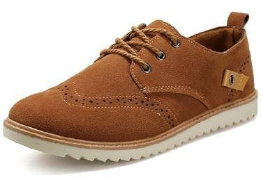 F0225 British Business Brown Kasut Casual Shoes