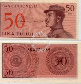 Indonesia 50cent UNC 1964