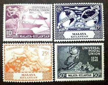 Malaya 1949 Kelantan Universal Postal Union MLH #2