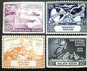 Malaya 1949 Kedah Universal Postal Union MLH #1