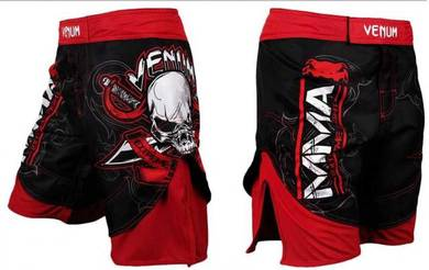 UFC MMA VENUM RED SKULL short Pant (Gym Fitness)